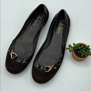 Cole Haan   Brown Suede   Flats   Size 9